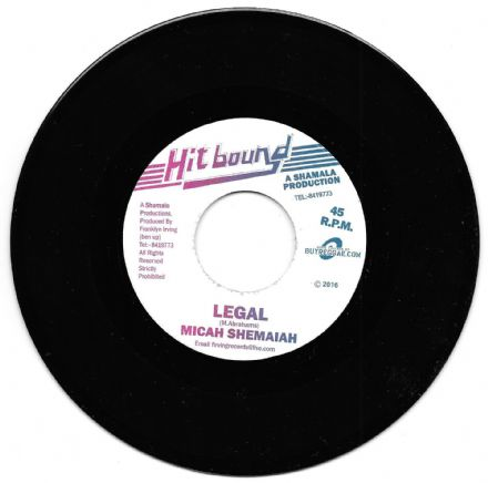 Bad Boy riddim: Micah Shemaiah - Legal / Franklyn Irving - Bad Boy Riddim (Hit Bound / Buyreggae) EU 7""